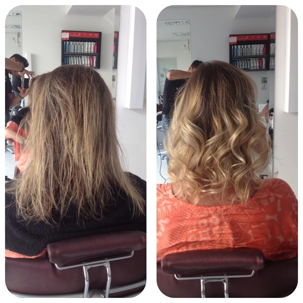 Trabalho realizada com técnica eriçado  cabelo cabeleireiro(a)