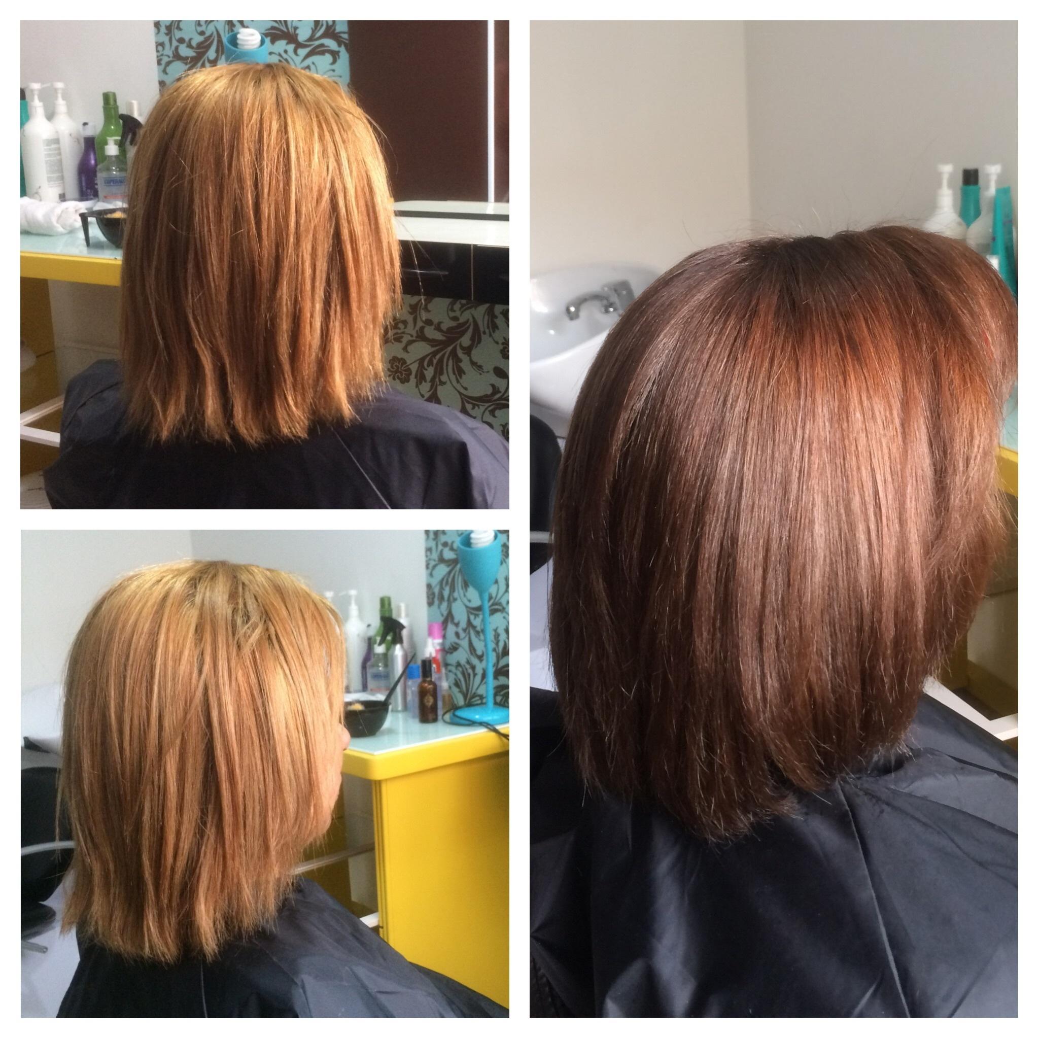 Correção de cor e botox capilar cabeleireiro(a)