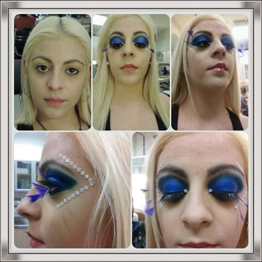 Editorial Moda Preparação de pele, sobrancelha, detalhes em pedras, maquiagem  maquiador(a)