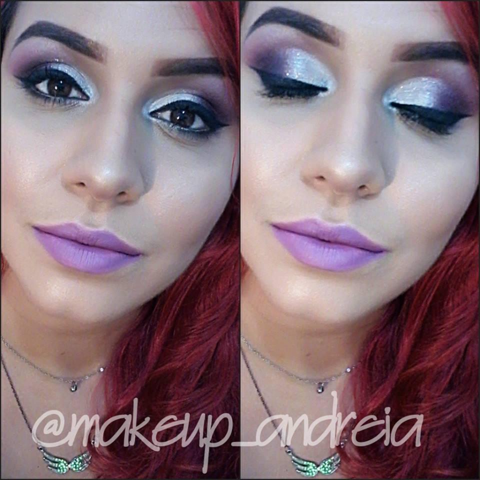 Maquiagem com esfumado lilás maquiador(a)
