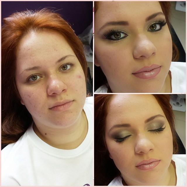 make antes e depois maquiador(a)