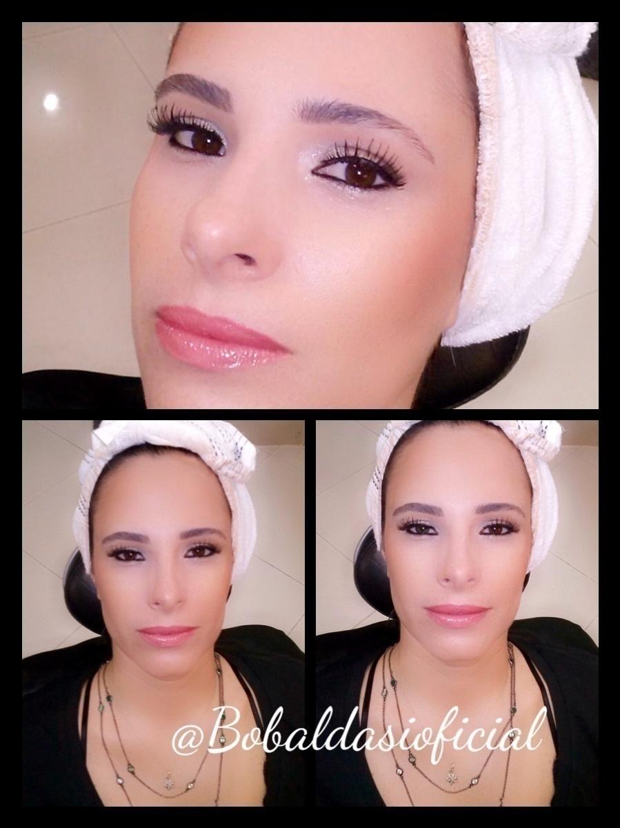 Pele Perfeita. Corretivo,base,iluminador,blush,delineador,máscara de cílios é um batom com um leve toque rosê. Look perfeito para uma mulher que gosta de ousar de forma natural. maquiador(a)