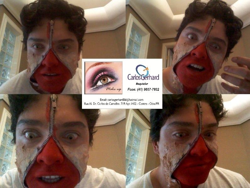 Maquiagem Artística Zumbi  Maquiagem Artística ideal para  , festas de halloween, festas a fantasia etc maquiador(a) secretário(a)