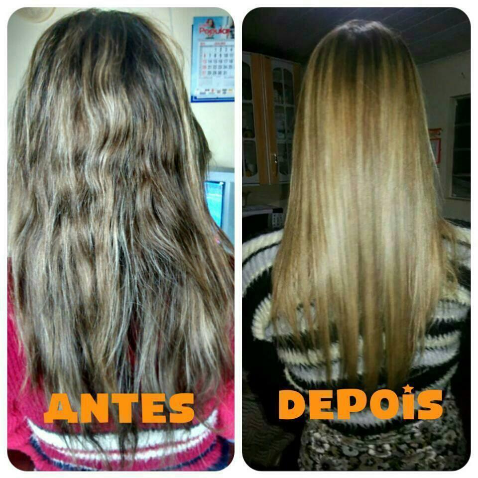 Luzes e Progressiva Luzes com touca e progressiva Portier auxiliar cabeleireiro(a)