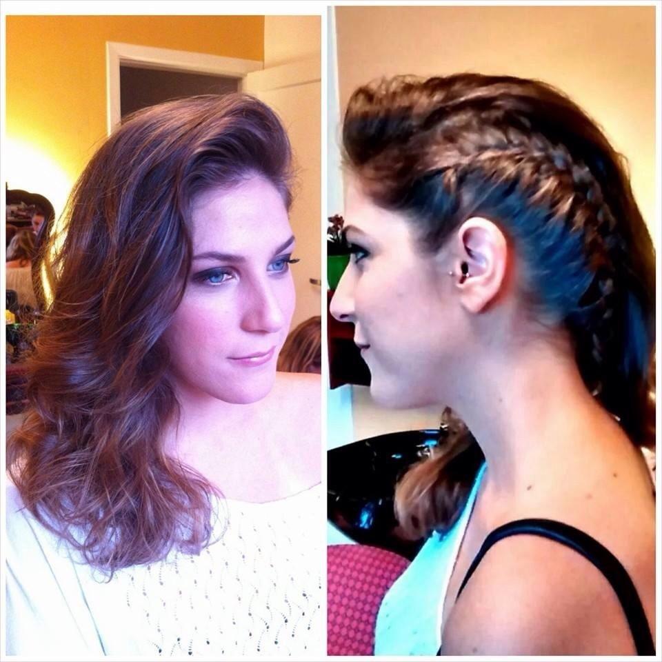 penteado, trança cabelo  acupunturista designer de sobrancelhas