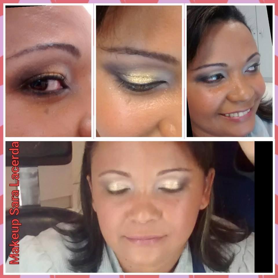 Maquiagem clássica em pele negra maquiador(a) esteticista designer de sobrancelhas