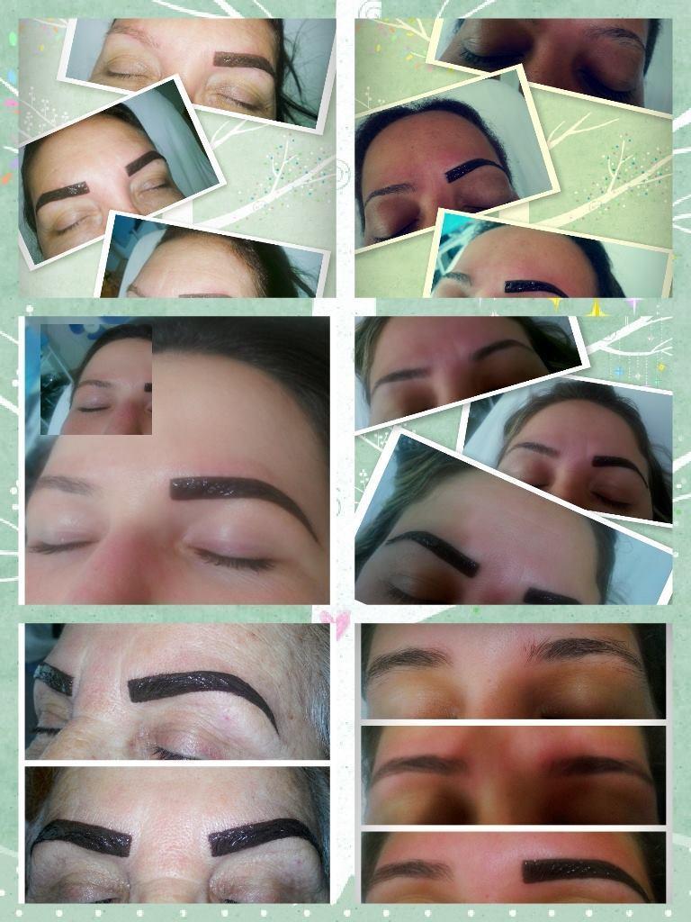Trabalhos de Designer de sobrancelhas com hena esteticista