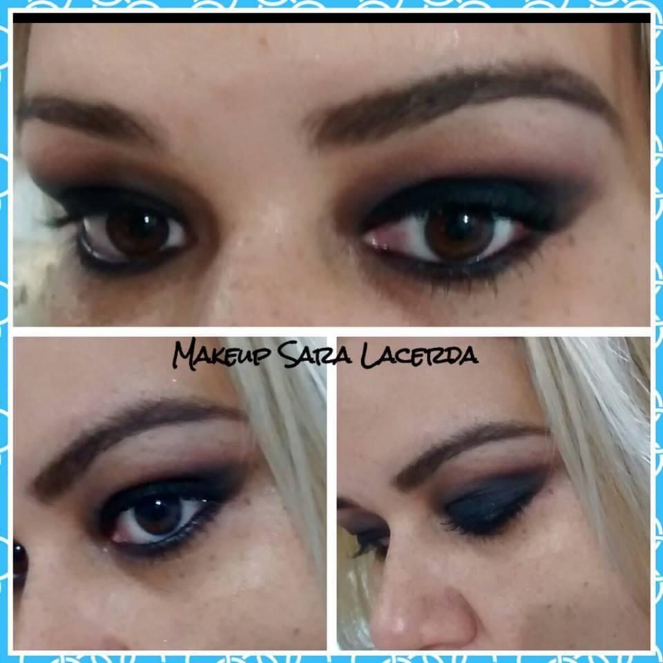 Olho preto esfumado maquiador(a) esteticista designer de sobrancelhas