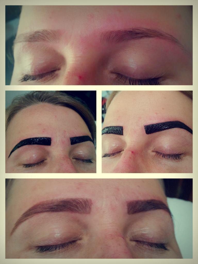 Designer de sobrancelhas com hena esteticista