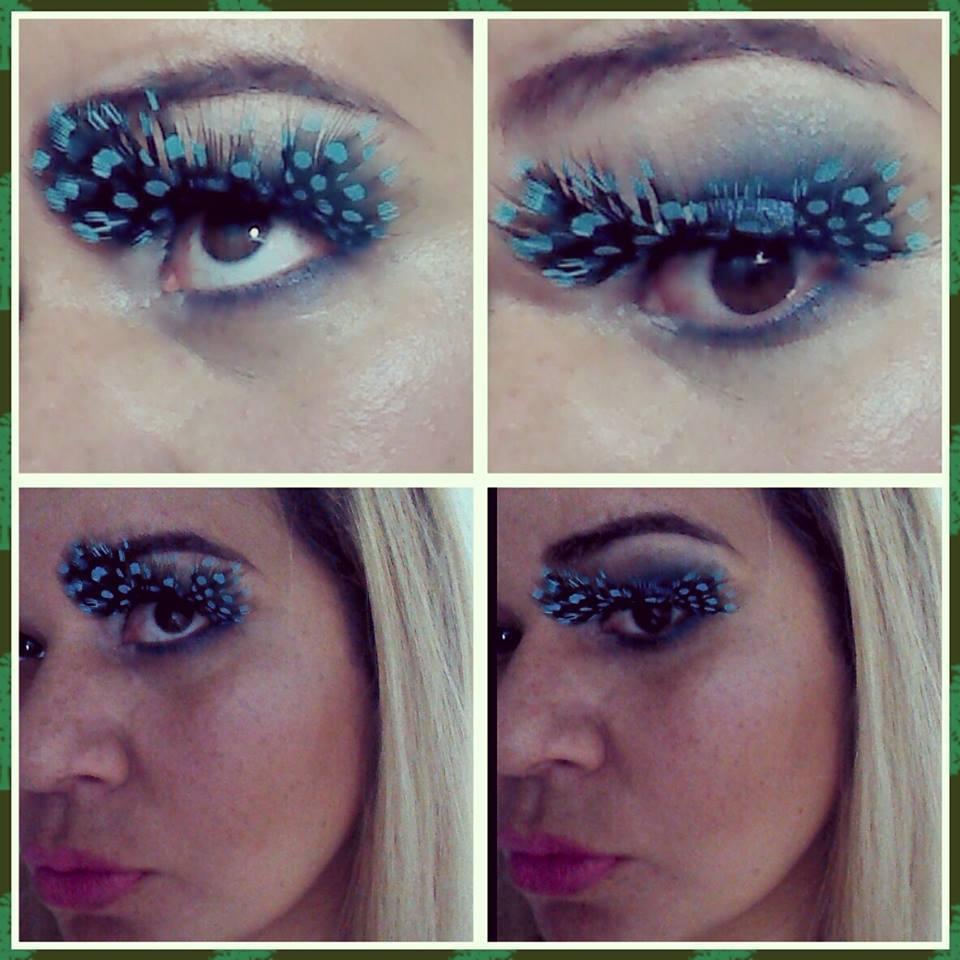Maquiagem para festa fantasia com super cílios postiços. maquiador(a) esteticista designer de sobrancelhas