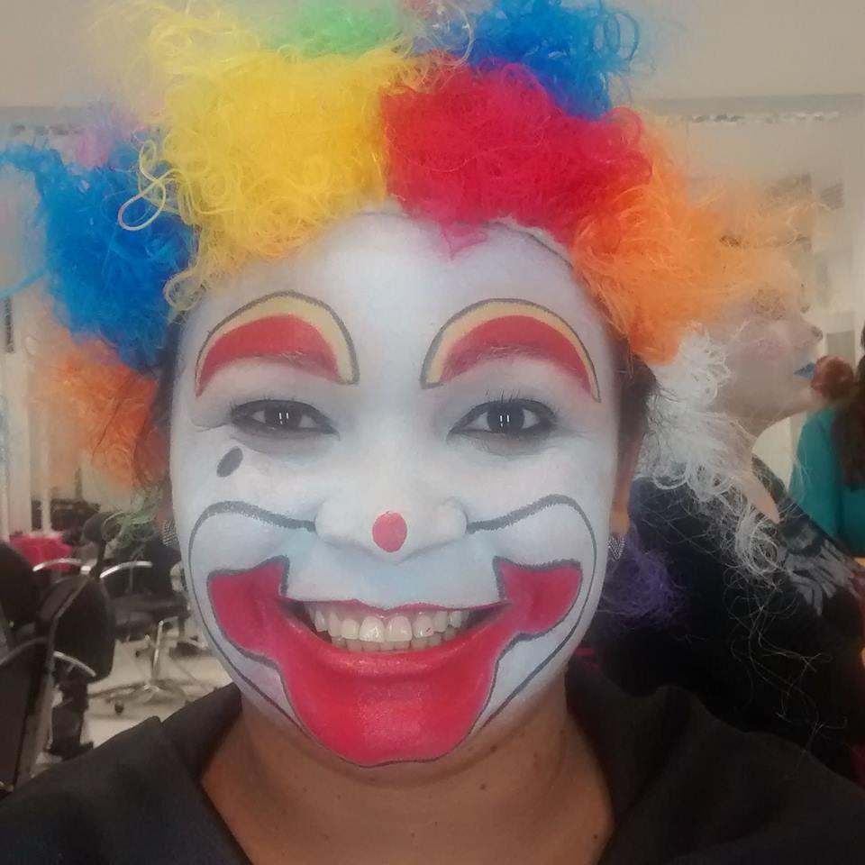 Maquiagem artística PALHAÇO maquiador(a) esteticista designer de sobrancelhas