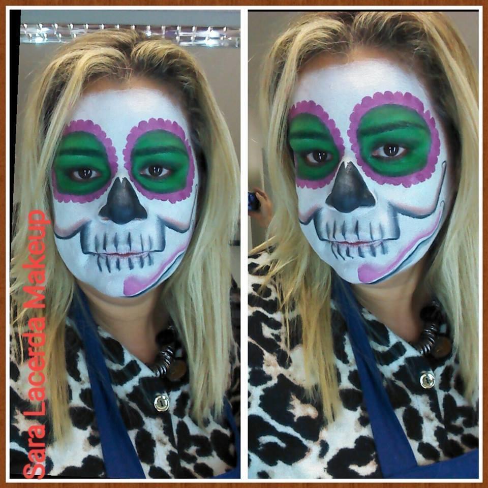 Maquiagem artística CAVEIRA MEXICANA maquiador(a) esteticista designer de sobrancelhas