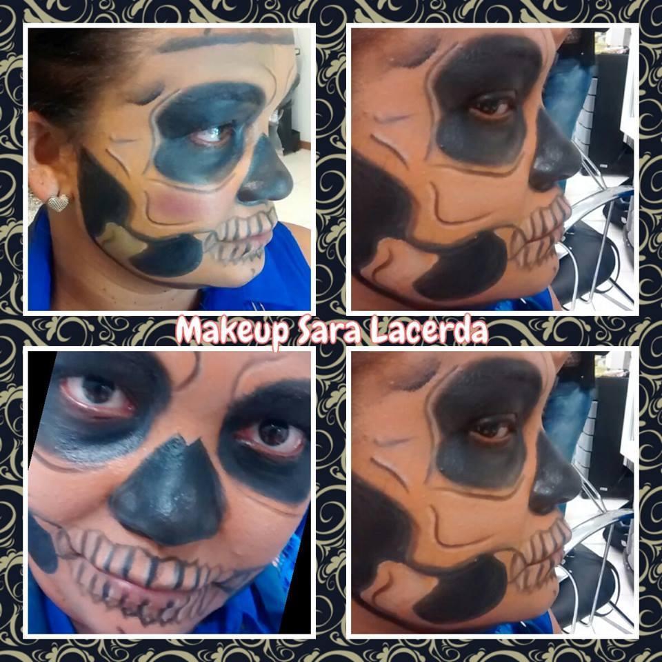 Maquiagem artistica CAVEIRA maquiador(a) esteticista designer de sobrancelhas
