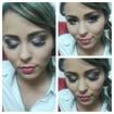 Noiva, maquiagem discreta, escolhida pela própria.