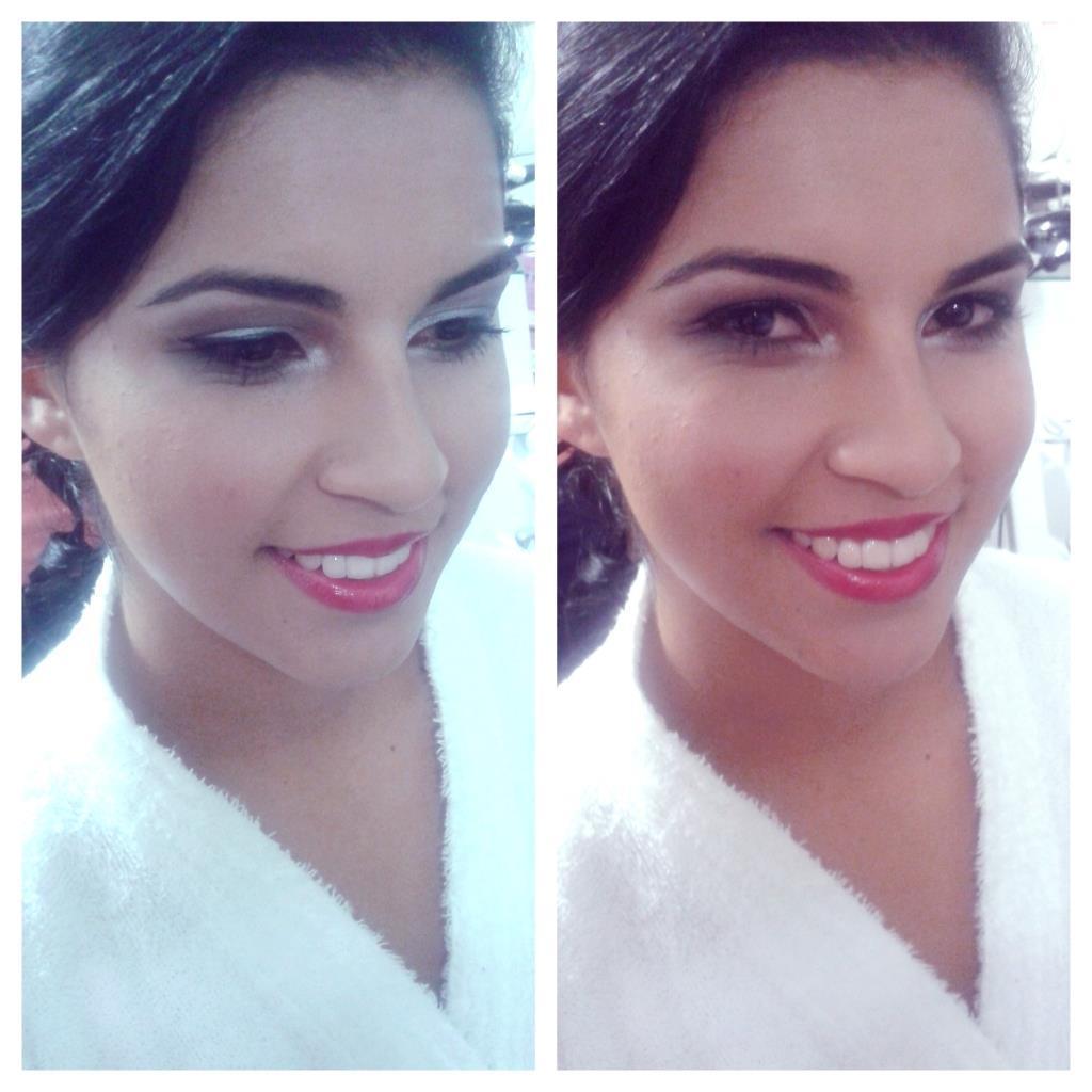 Noiva, maquiagem simples, escolhida pela própria. maquiador(a)