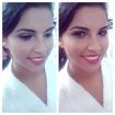 Noiva, maquiagem simples, escolhida pela própria.