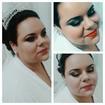 Maquiagem marcada, escolhida pela noiva.
