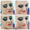 Maquiagem marcada para pele madura, escolhida pela cliente.