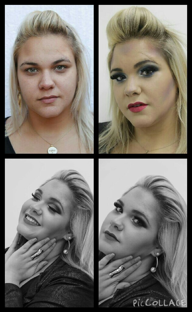 Publicidade Preto e Branco designer de sobrancelhas maquiador(a) consultor(a) em imagem
