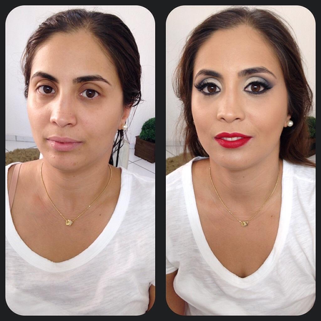 Antes e depois  maquiagem  maquiador(a) designer de sobrancelhas micropigmentador(a) assistente maquiador(a)