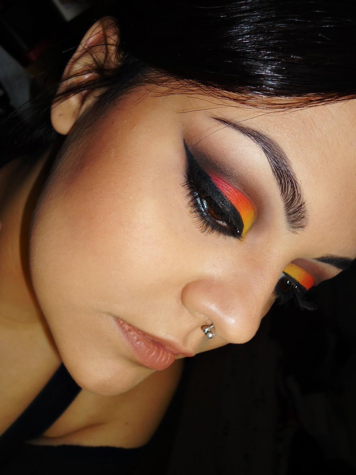 Por do sol maquiagens festa maquiagem