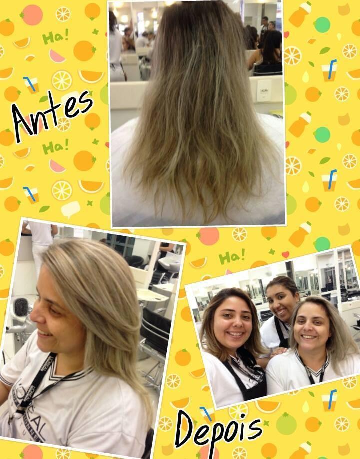 Platinando auxiliar cabeleireiro(a)