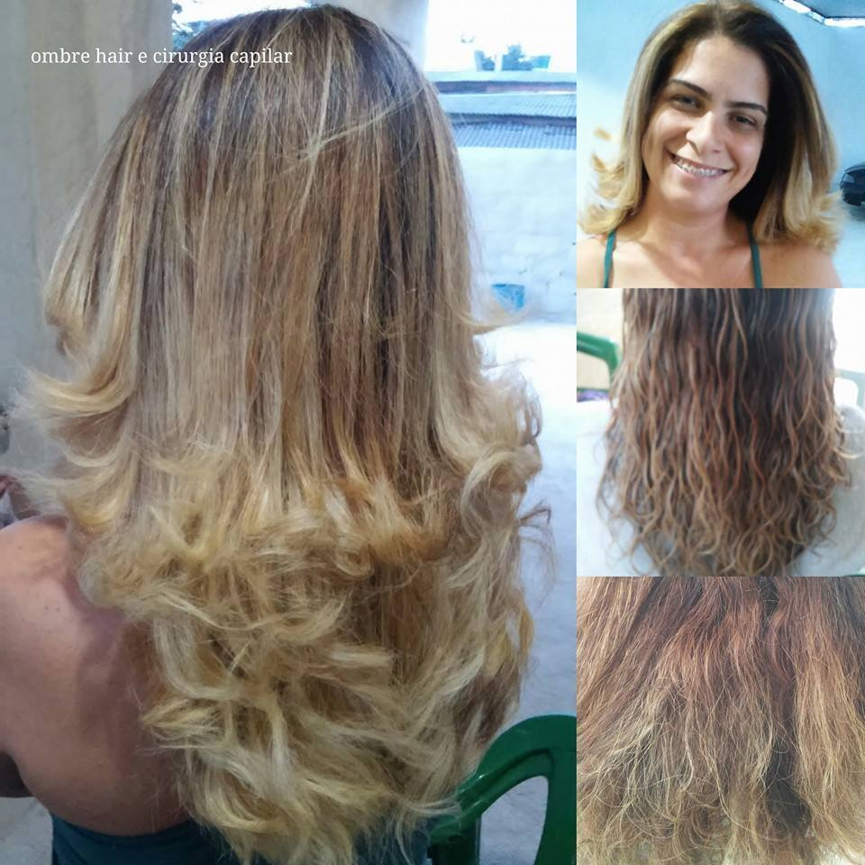 trabalhos realizados  Ombre hair e autorização