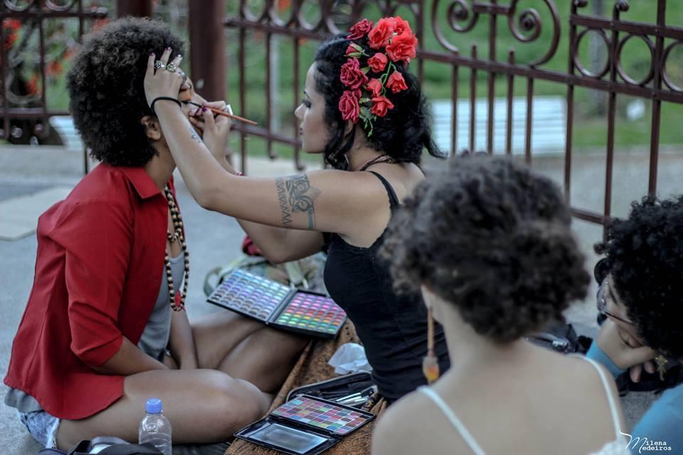Produção para ensaio fotográfico - Projeto Entre Fridas maquiador(a) maquiador(a) maquiador(a)