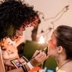 Produção de maquiagem no evento Mientras Dura, em BH