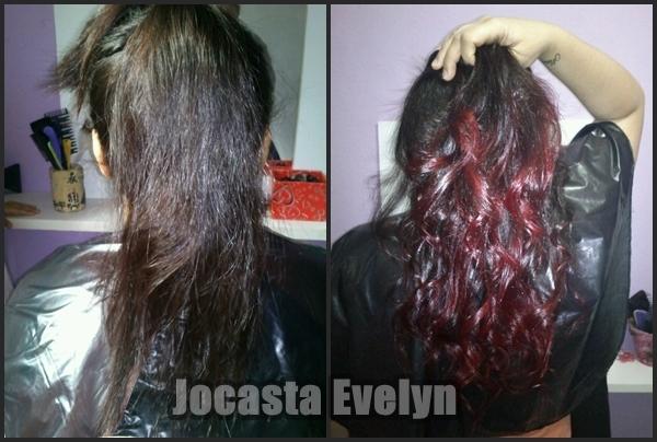 Californianas Vermelhas.  Mechas costuradas e eriçadas, descoloridas com peróxido de 20, tonalizadas com vermelho especial.   Em seguida foi feito botox. cabeleireiro(a) auxiliar cabeleireiro(a)