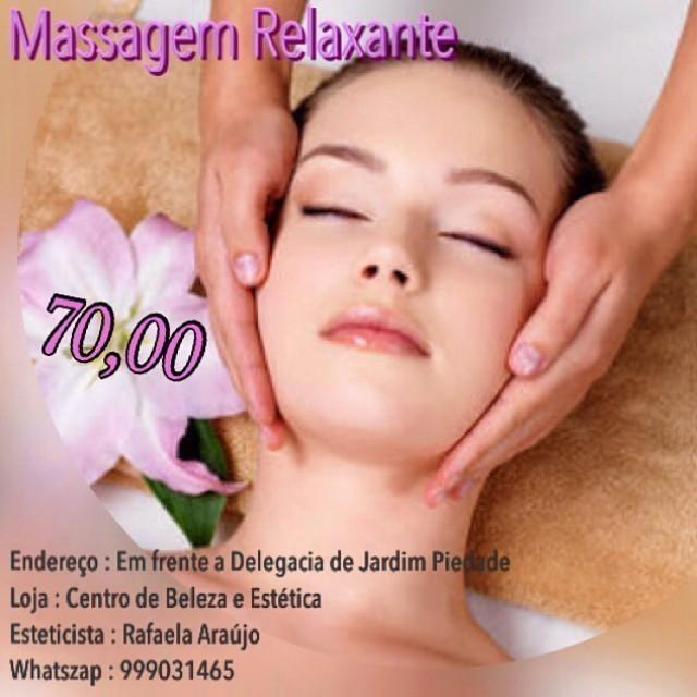 Massagem relaxante  esteticista massagista maquiador(a)