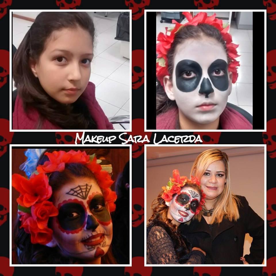 Caveira mexicana,  Apresentação feita em PASSARELA maquiagem para fantasias maquiagem  maquiador(a) esteticista designer de sobrancelhas