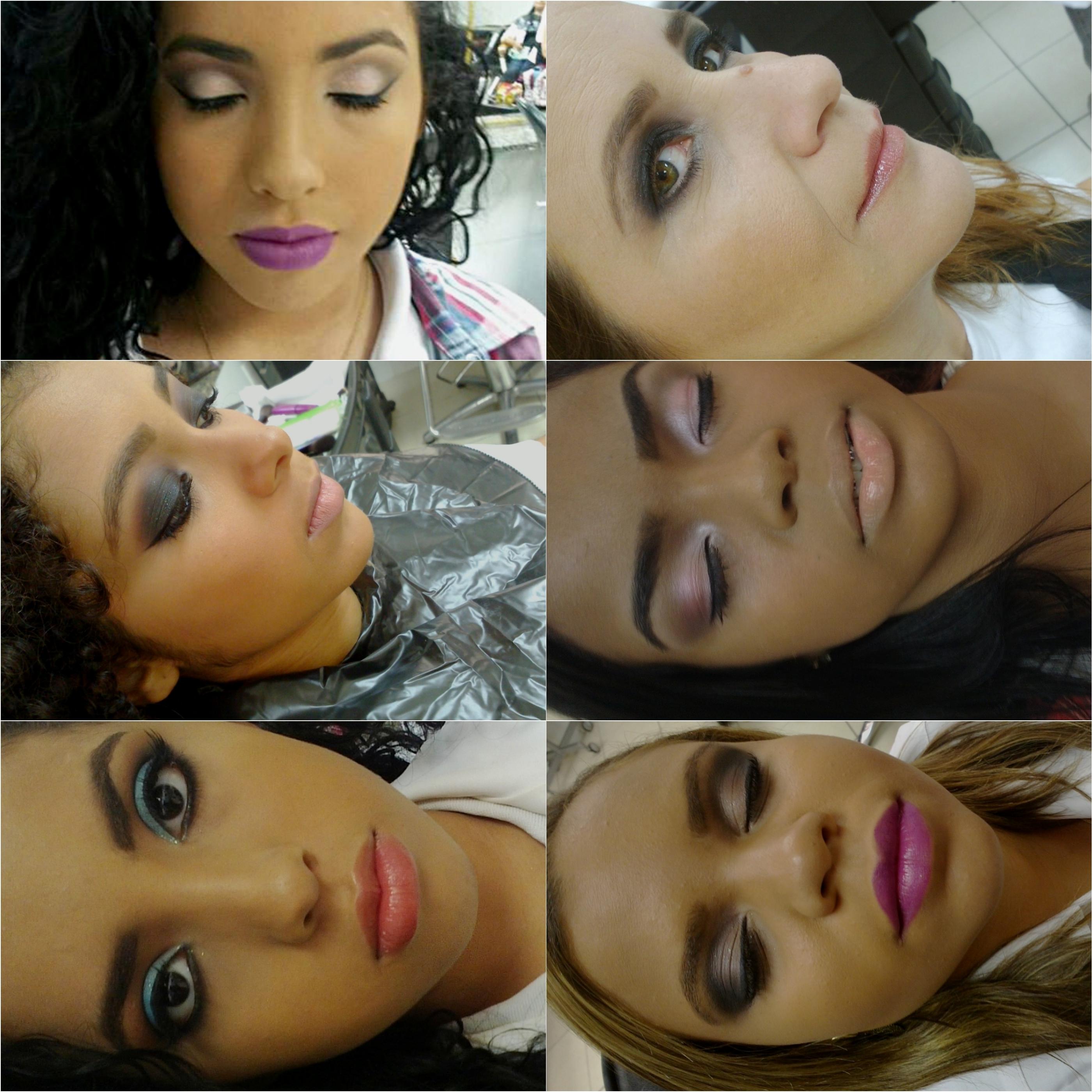 Maquiagem feita no curso de Maquiador. maquiador(a)