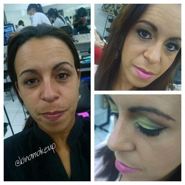 Maquiagem para o dia. Preparação completa da pele, com utilização de pouco base e tons sutis para sombra e labios. maquiador(a)