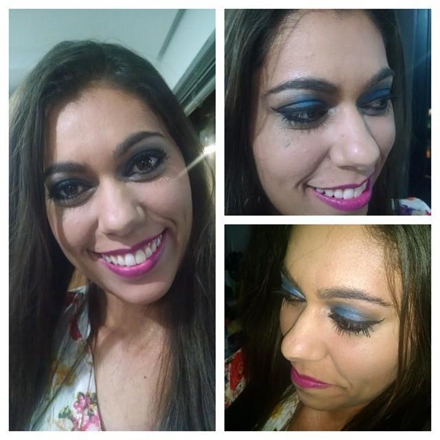 Maquiagem para noite. Correção de pele, e suavização de olheiras. maquiador(a)