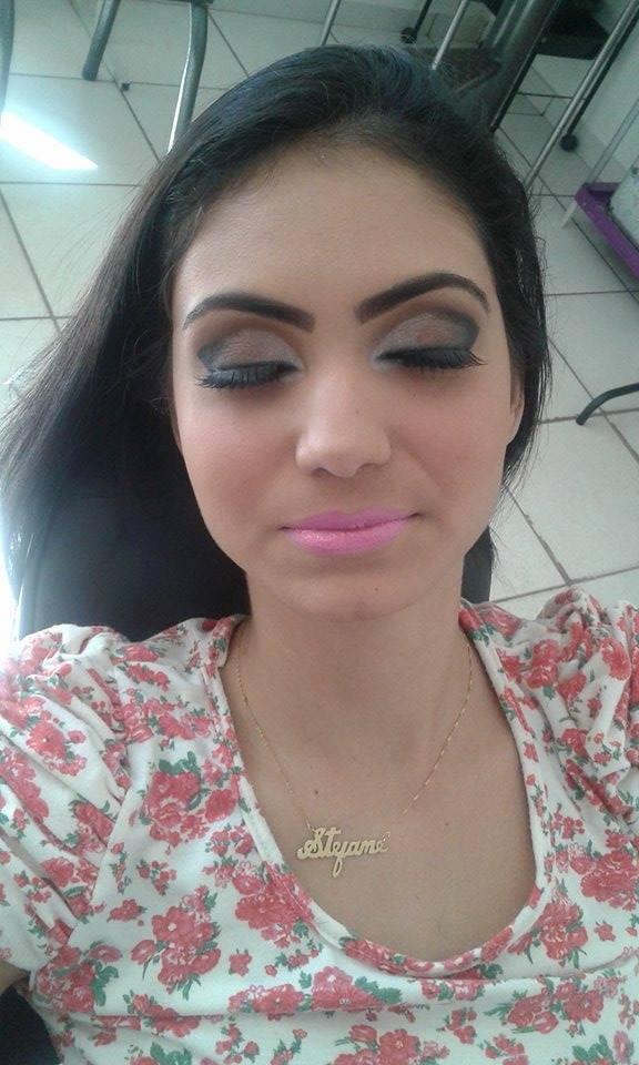 festa, ano novo, rosa maquiagem
