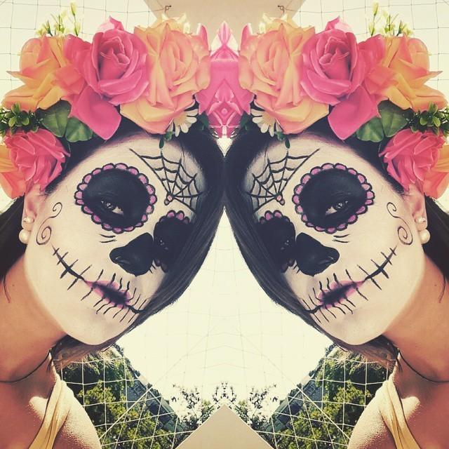 halloween, festa á fantasia, caveira mexicana maquiagem  maquiador(a) designer de sobrancelhas esteticista estudante