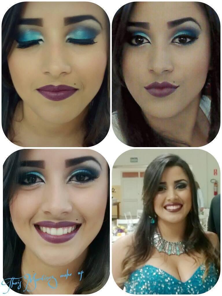 Maquiagens TM Make Azul feita em mim para madrinha! #Amei maquiador(a) recepcionista