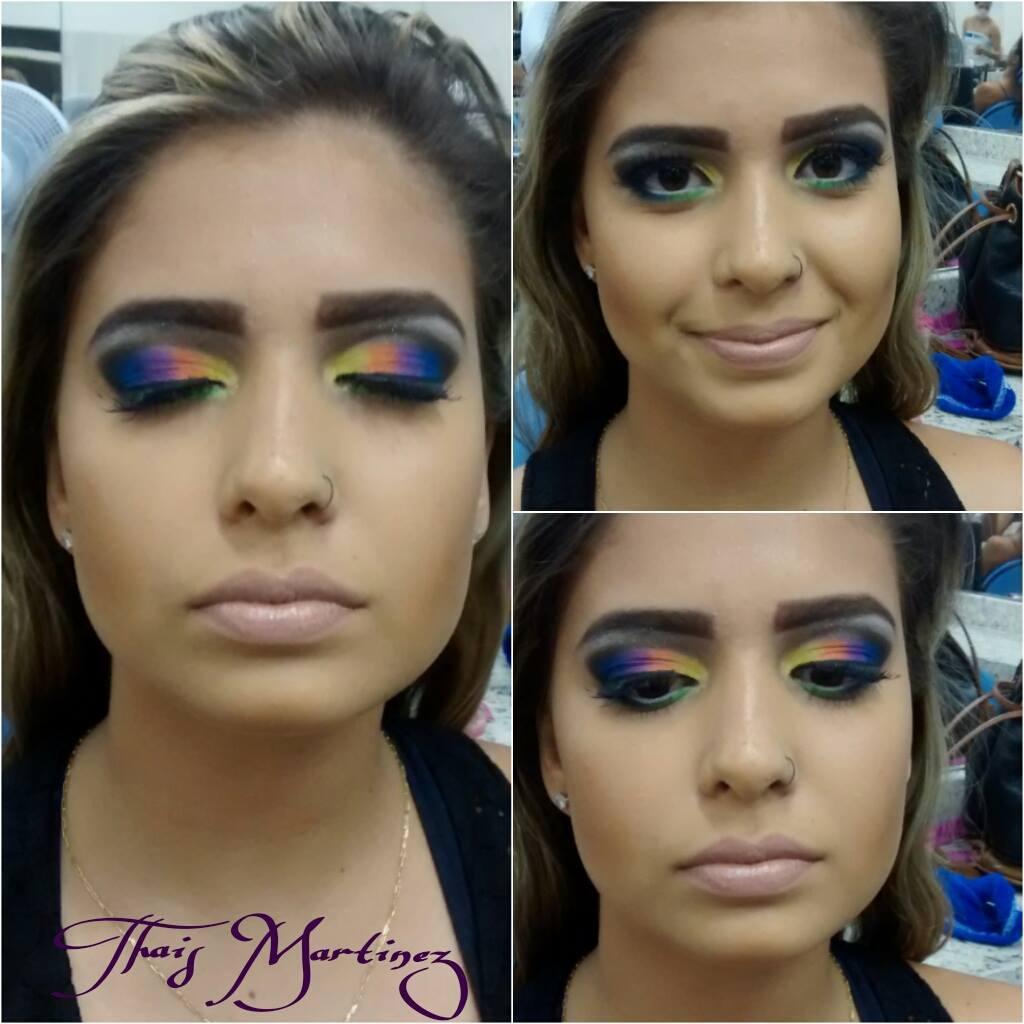Maquiagens TM Make Colorida TOOP feita na amiga linda Camila! #arrasoou maquiador(a) recepcionista