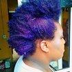 Descoloração e CoroloraçãoDescoloração, coloração violet, Hidratação e finalização afro