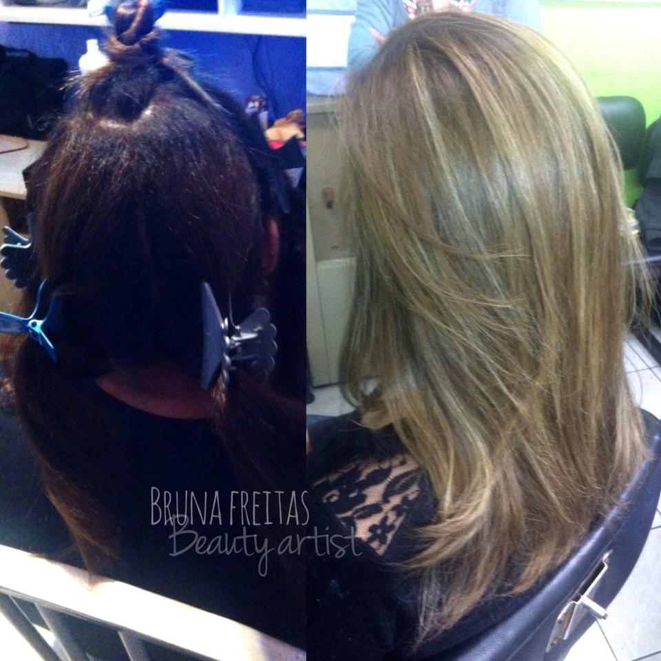 Correção de cor + Luzes e tratamento capilar. cabeleireiro(a) maquiador(a) micropigmentador(a)