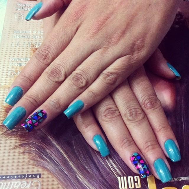 Unhas artísticas unhas, azul  cabeleireiro(a) maquiador(a) micropigmentador(a)