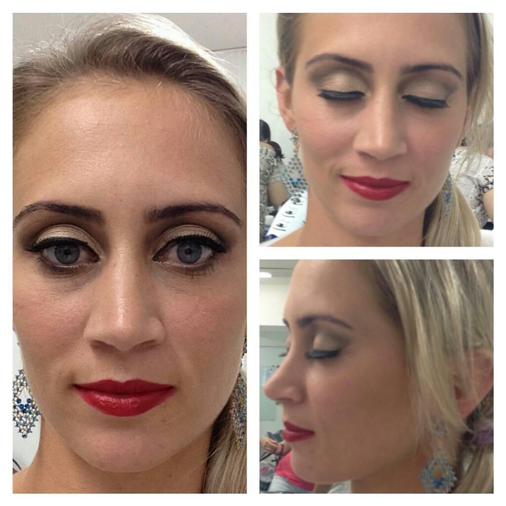 festa, dia, simples, natal maquiagem  maquiador(a)