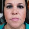 Pele maduraEsta maquiagem foi voltada á pele madura, onde foi usado produtos específicos para a mesma. Por ser uma maquiagem para a noite, foi usado tons escuros nos olhos mas sem pesar muito e um tom mais claro na boca para realçar mais o olhar.