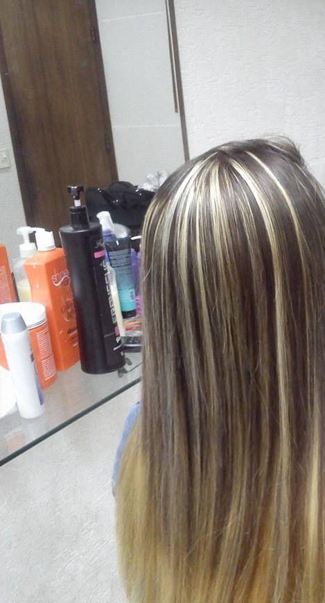 mechas  dia-a-dia cabelo  esteticista maquiador(a) designer de sobrancelhas massoterapeuta