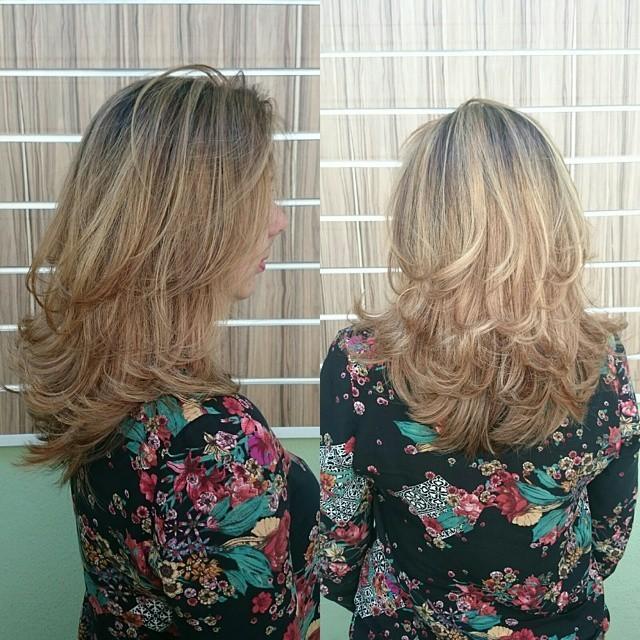 Balayage e escova modelada. escova, festa, dia-a-dia cabelo  visagista cabeleireiro(a) outros auxiliar cabeleireiro(a)