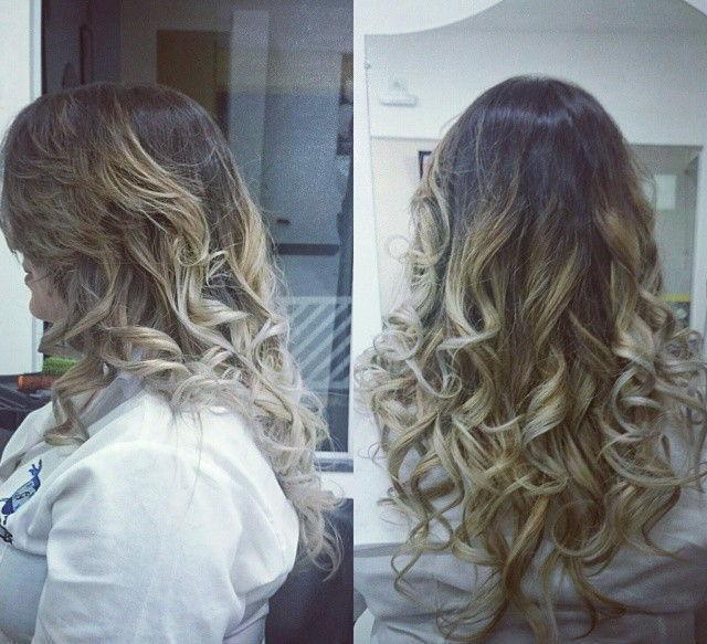 Ombré hair modelado com babyliss. californiana, dia-a-dia cabelo  visagista cabeleireiro(a) outros auxiliar cabeleireiro(a)