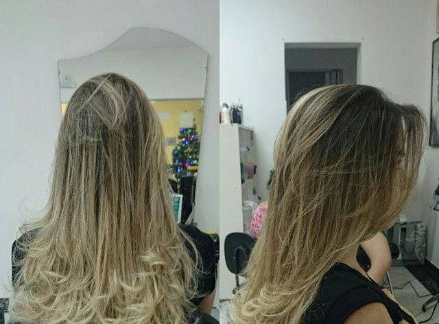 Luzes no topo com californiana. visagista cabeleireiro(a) outros auxiliar cabeleireiro(a)