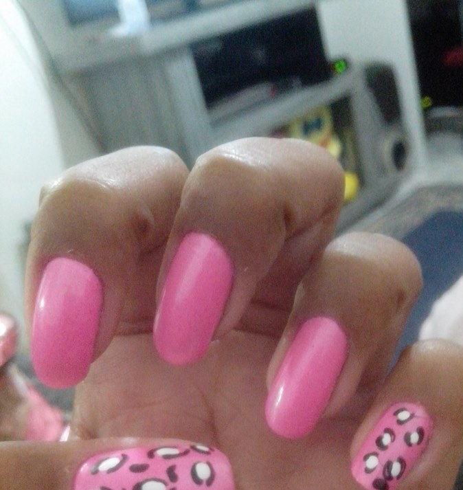 pink, oncinha, delicado unhas  manicure e pedicure