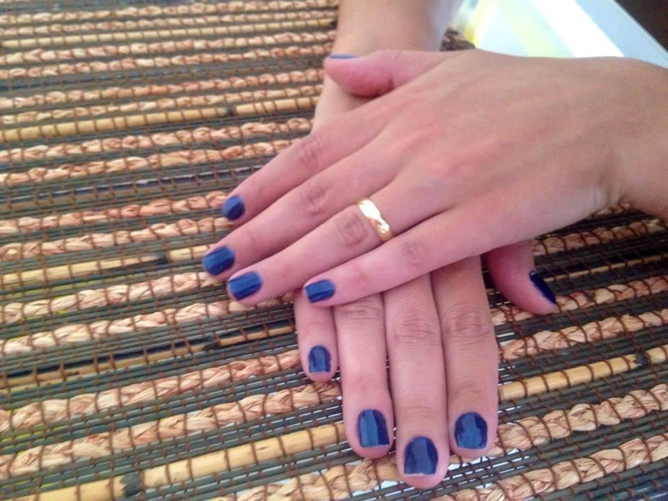 esmaltação em gel esmalte de gel, azul cremoso, dia-a-dia, festa unhas  manicure e pedicure